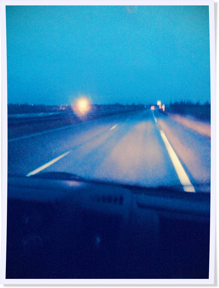 On the road...
